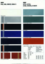 1985 BMW Colour Chart