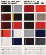 1988 BMW Colour Chart