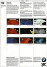 1989 BMW Colour Chart K Series