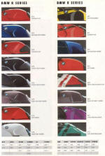 1991 BMW Colour Chart