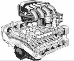 BMW K16V Engine Cutaway Photo