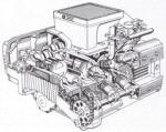 BMW K Series Engine Cutaway Photo