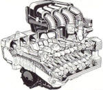 BMW K1 & K100RS 16V Engine Cutaway