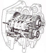BMW K1200RS Gearbox