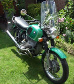 BMW R75/5 Metallic Green Code 074